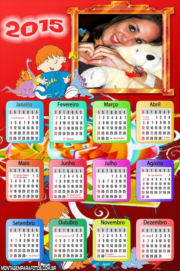 Calendário 2015 Harry e o Balde