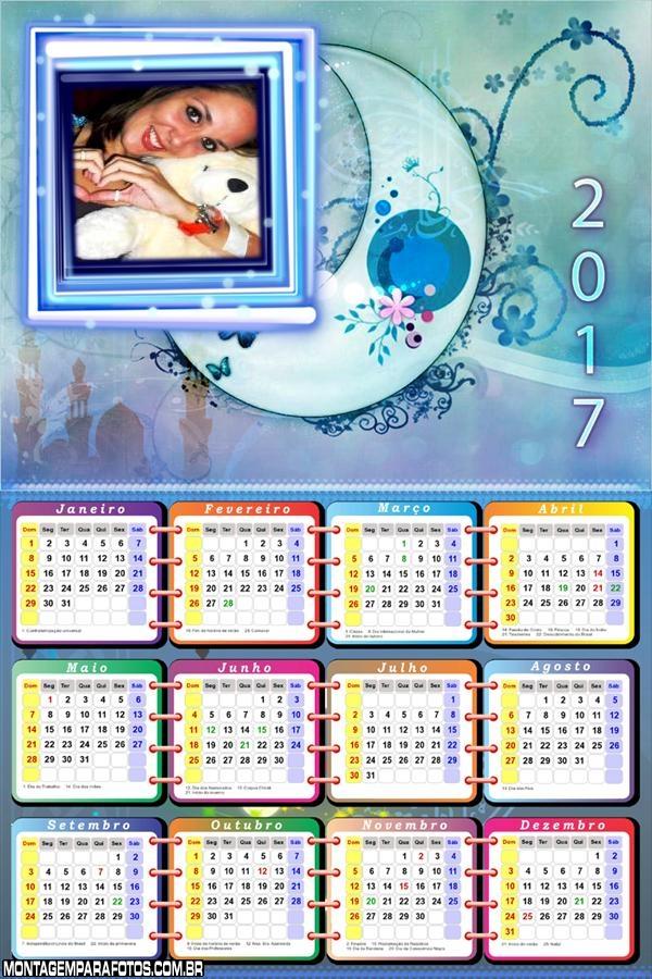 Calendário 2017 da LUA