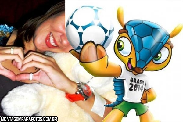 Moldura Mascote da Copa 2014