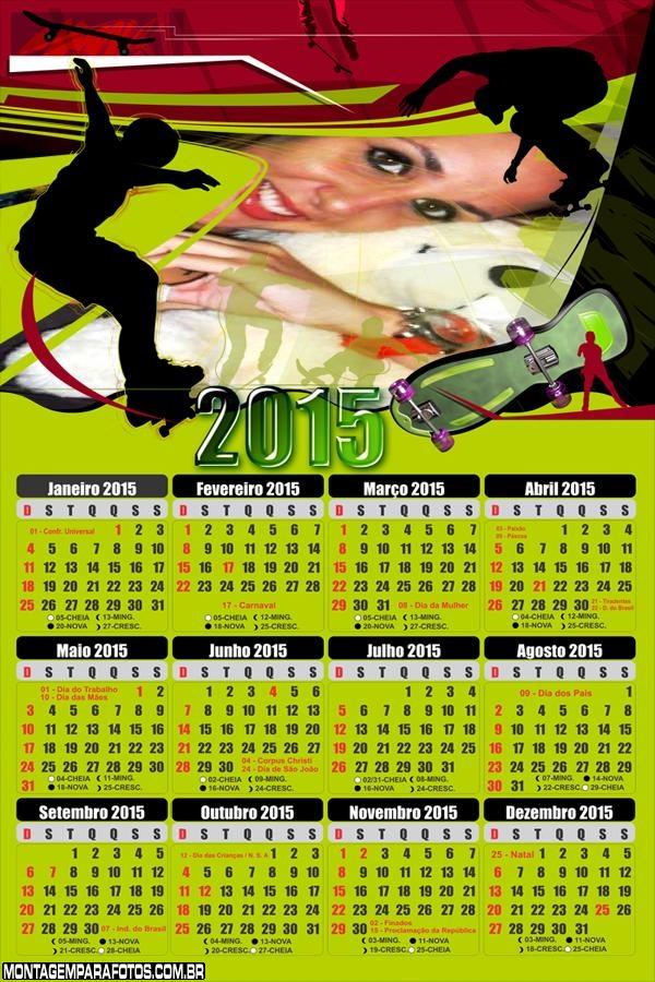 Calendário 2015 Skate Sk8