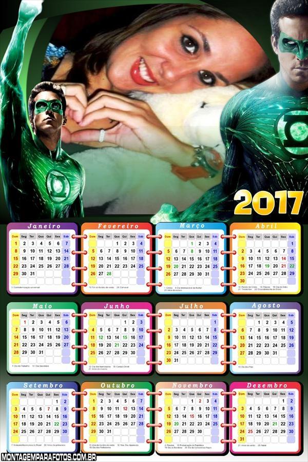Calendário 2017 Personagem Lanterna Verde
