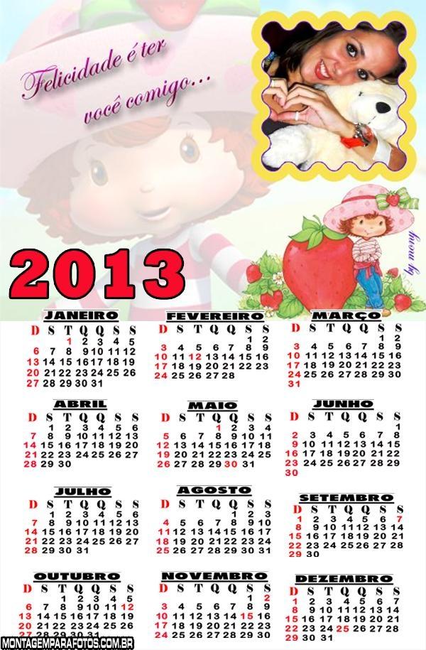 Calendário Felicidade é Ter Você