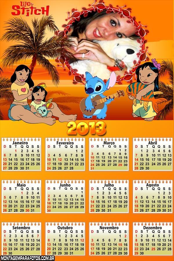 Calendário Lilo e Stitch 2013