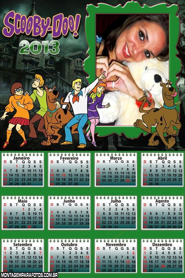 Calendário Scooby Doo 2013