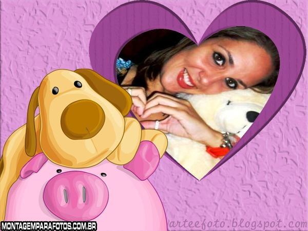 Moldura Pig e Dog