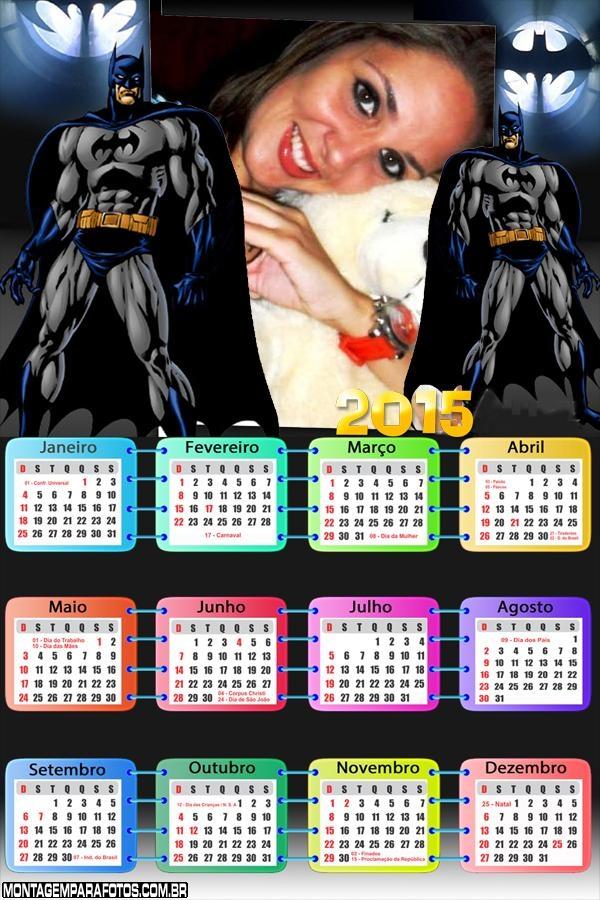 Calendário 2015 do Batman