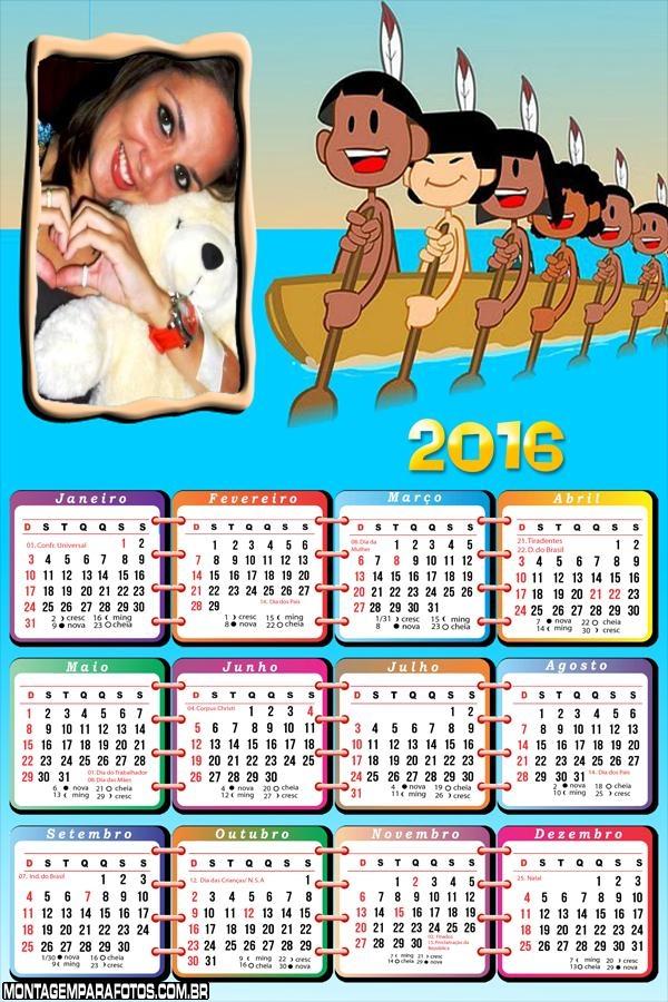 Calendário Indiozinhos da Galinha Pintadinha 2016