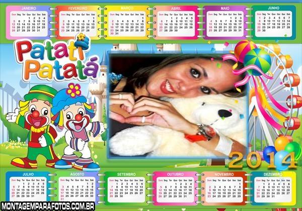 Calendário 2014 Circo Patatá