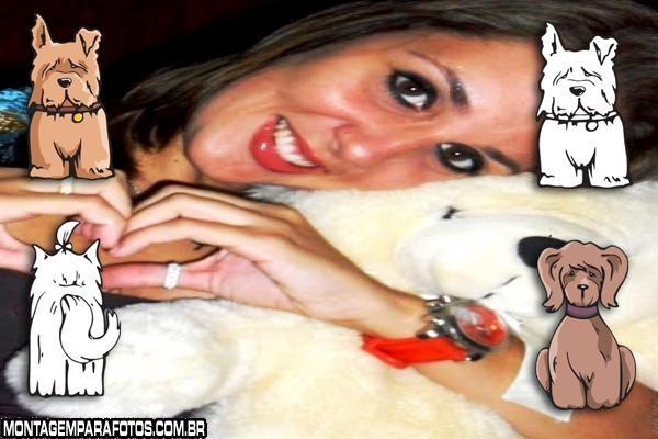 Cadelinha Branca e Cão Marron