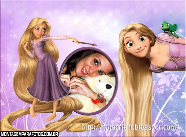 Moldura Rapunzel Feliz