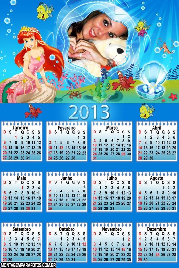 Calendário 2013 Ariel Linda