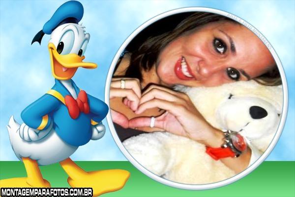 Moldura Pato Donald Feliz
