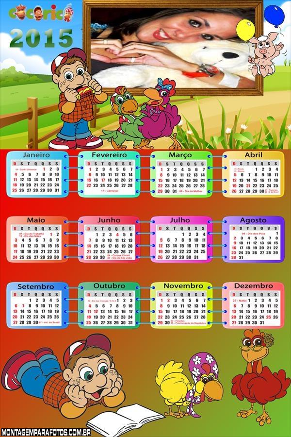 Calendário 2015 Cocoriocó