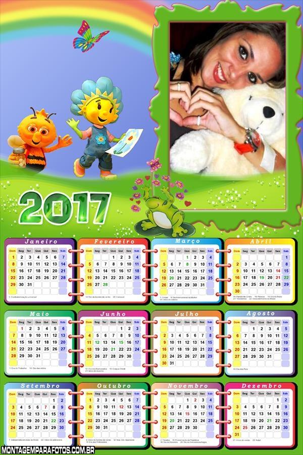 Calendário 2017 Fifi e os Floriguinhos
