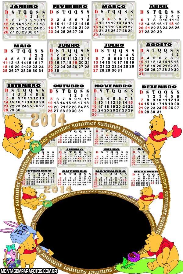 Pooh Calendário 2014