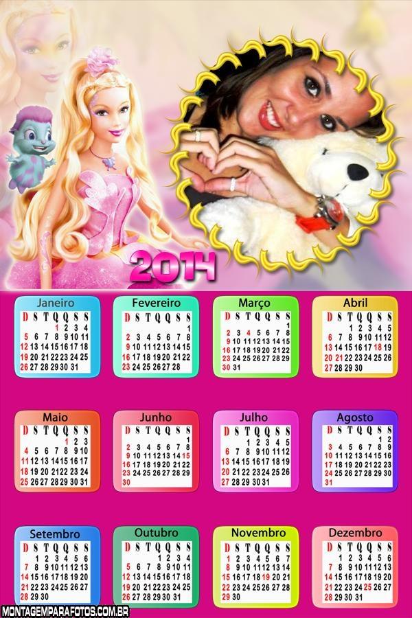 Calendário 2014 Barbie Humana