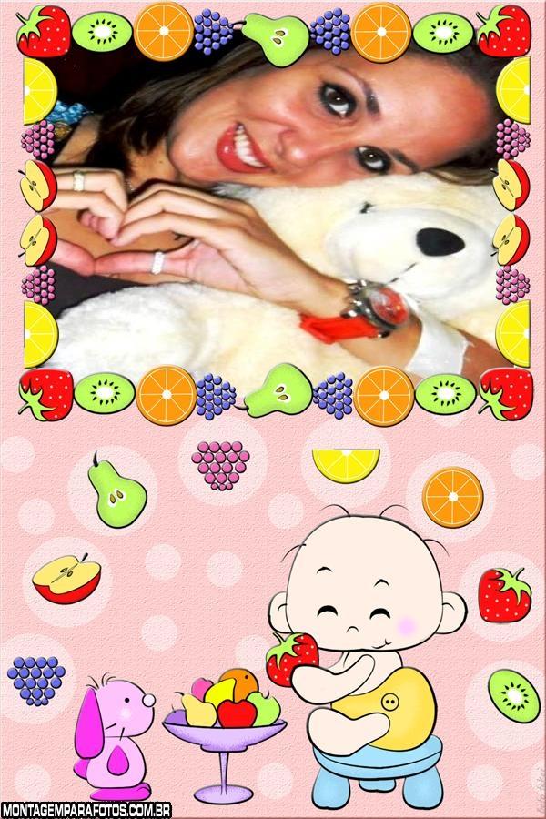 Moldura Bebê Frutinhas