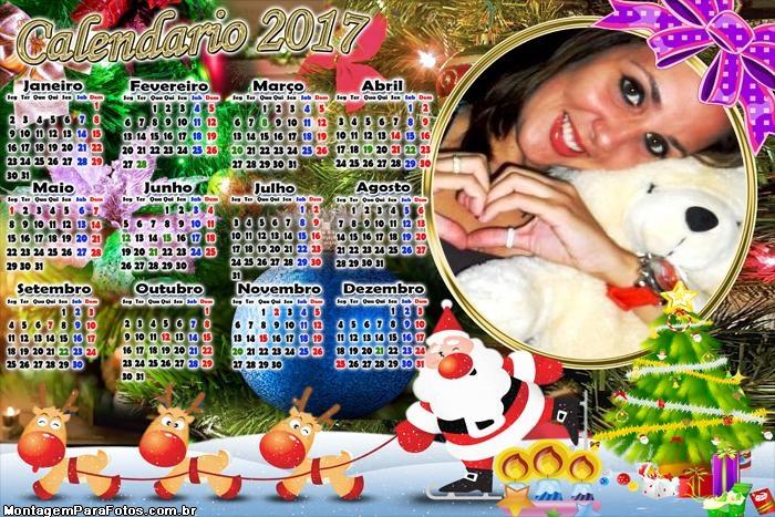 Calendário 2017 Natal Cut Árvore de Natalina