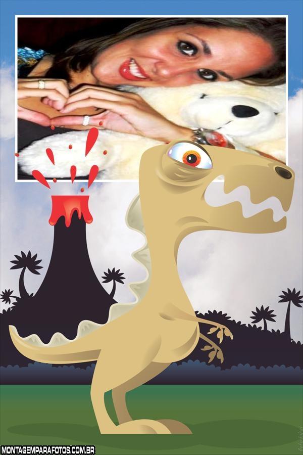Moldura Dinossauro e Vulcão