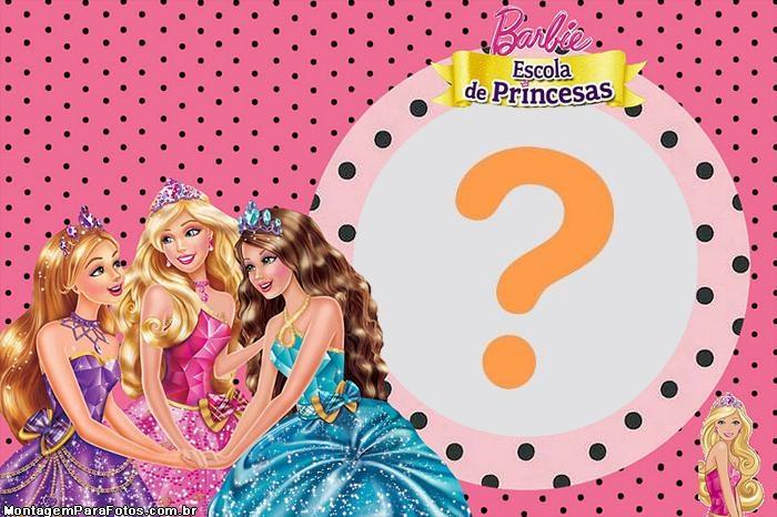 Moldura Barbie Escola de Princesas