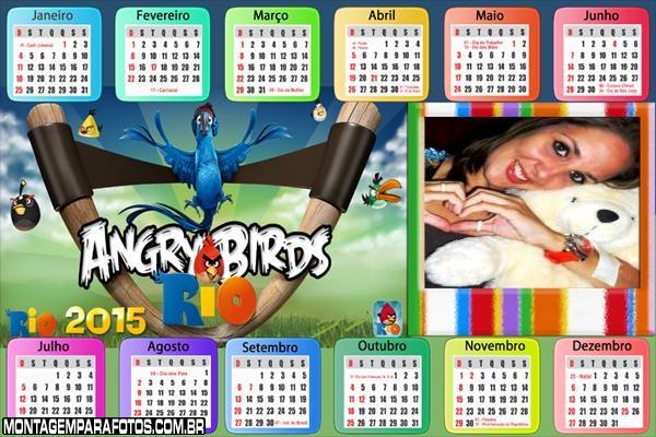 Calendário 2015 Angry Birds