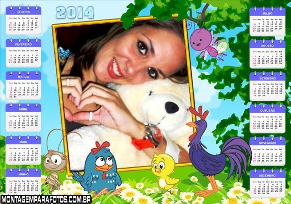 Calendário 2014 Galinha Amor