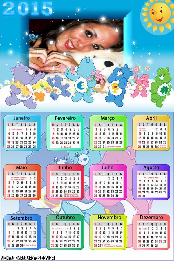 Calendário 2015 Ursos Carinhosos