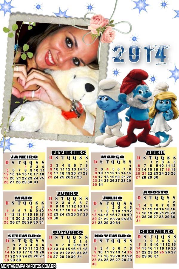 Calendário 2014 Smurfs