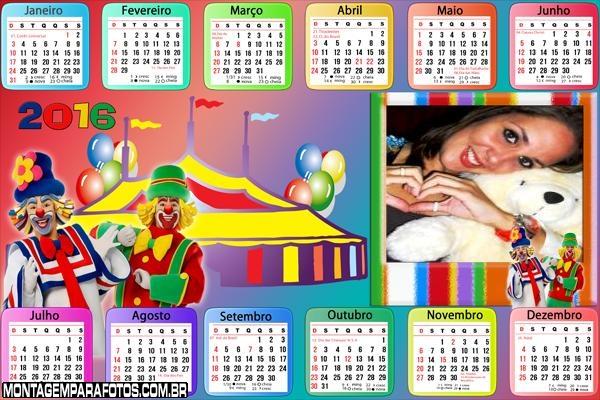Calendário Patati Patatá Circo 2016