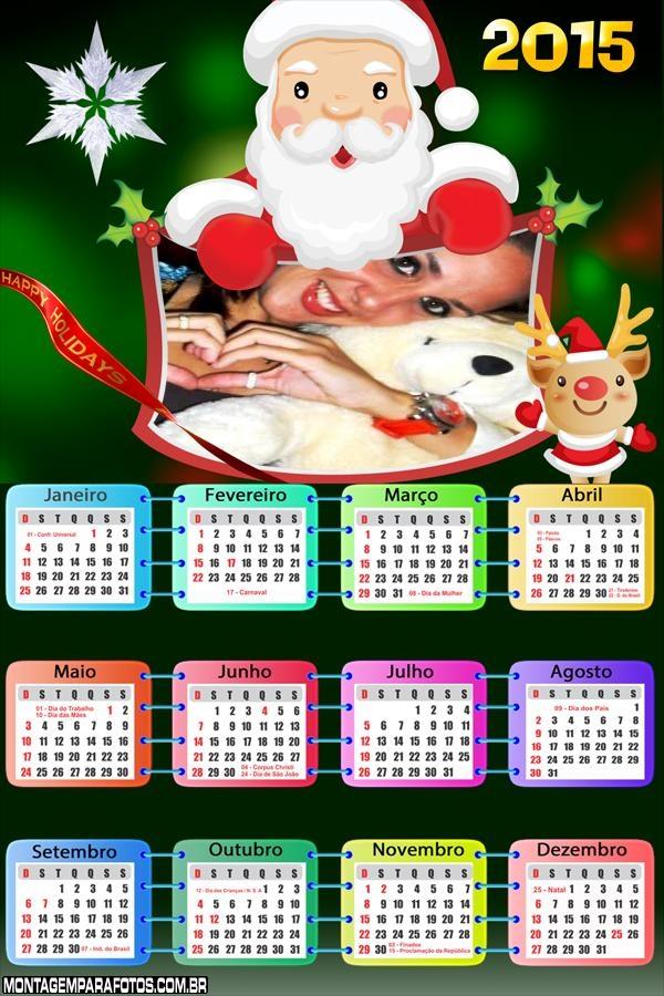 Calendário 2015 Papai Noel