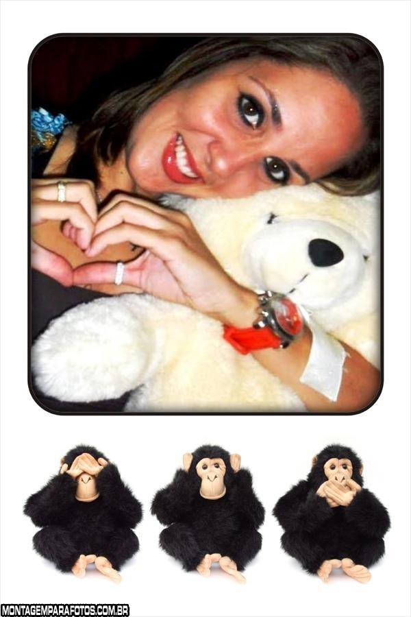Moldura Trio de Macacos