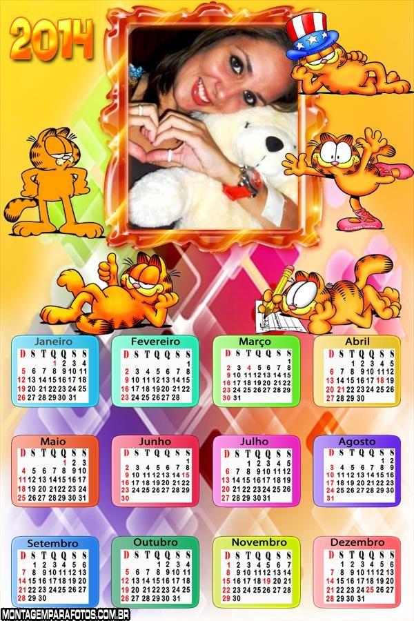 Calendário 2014 Garfield o Gato