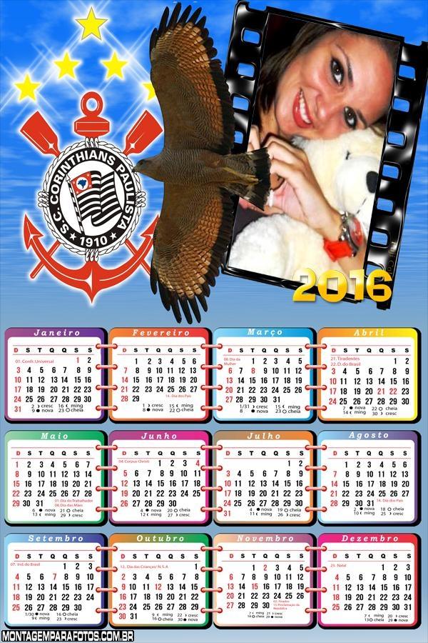 Calendário Mascote Corinthians 2016