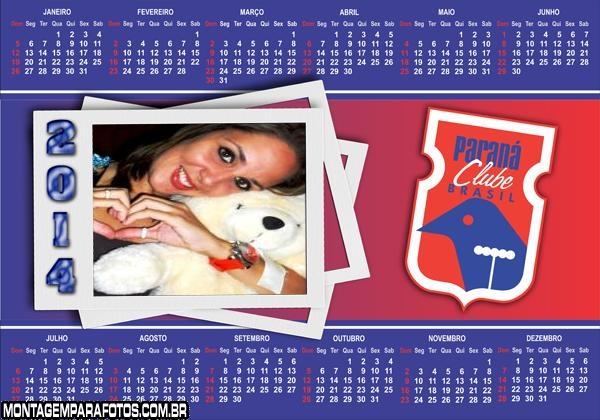 Calendário 2014 Paraná Time