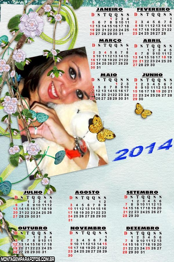 Calendário Borboletinhas 2014