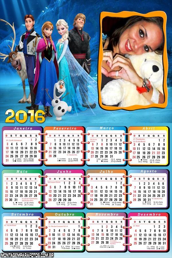 Calendário Frozen 2016