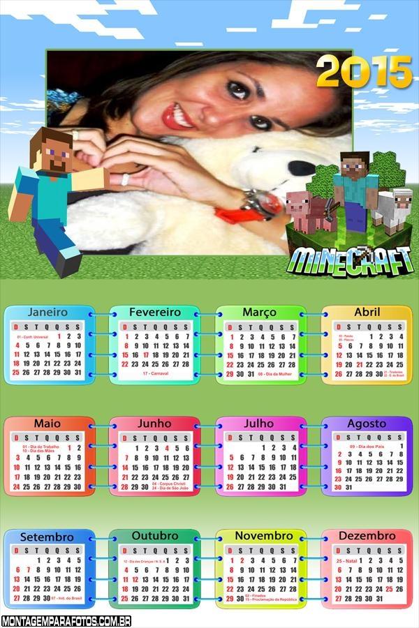 Calendário Minecraft 2015