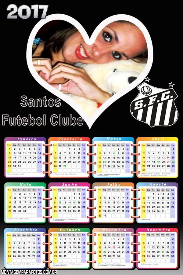 Calendário 2017 Santos Time
