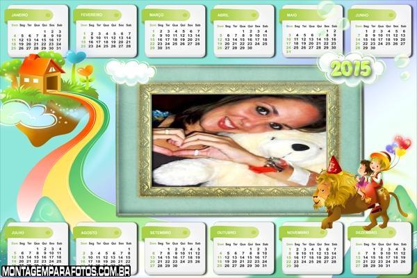 Calendário 2015 Felicidade