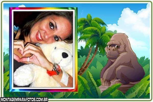 Moldura Gorila Desenho