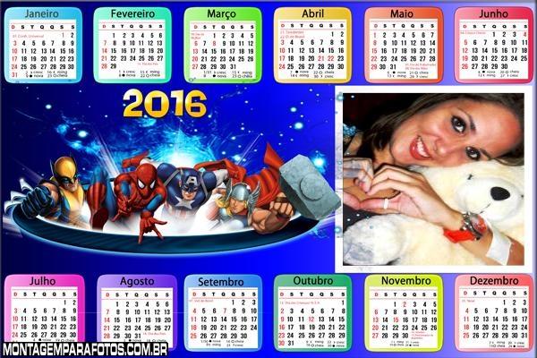 Calendário Thor e outros Personagens 2016