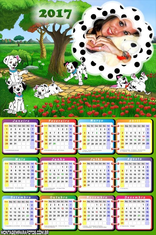 Calendário 2017 Cachorros Dálmatas