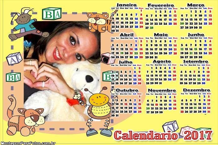 Calendário 2017 Brinquedos de Bebês
