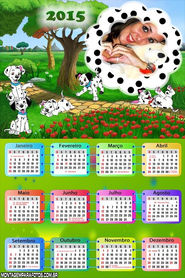 Calendário 2015 101 Dálmatas