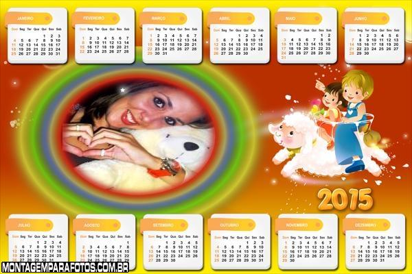 Calendário 2015 Fantasia