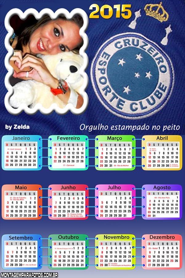 Moldura Calendário 2015 Cruzeiro