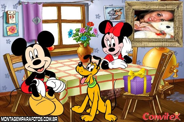 Moldura Fam�lia do Mickey