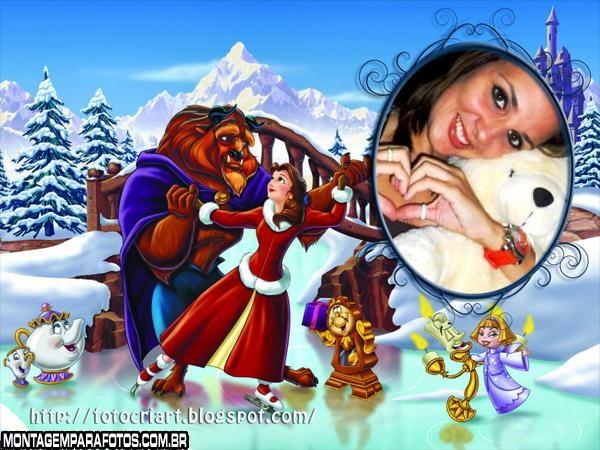 Natal da Bela e a Fera Moldura
