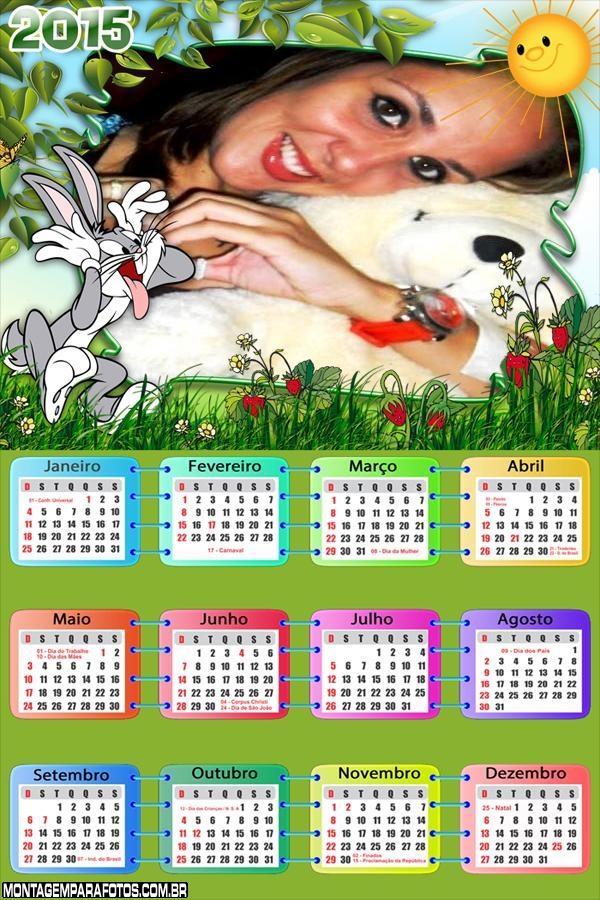 Calendário 2015 Pernalonga