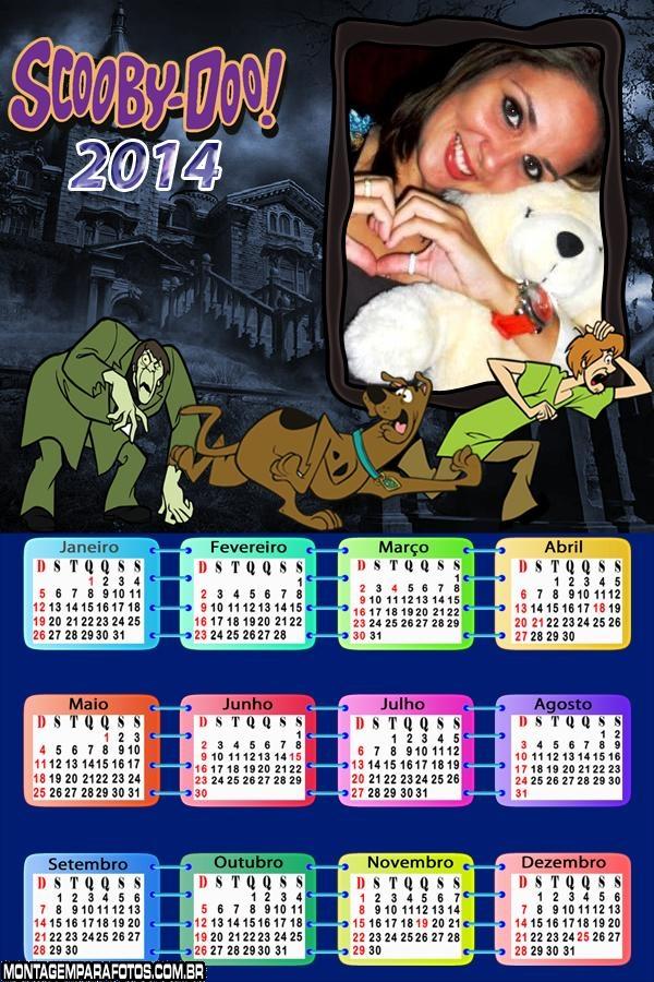 Calendário Scooby e Salsicha